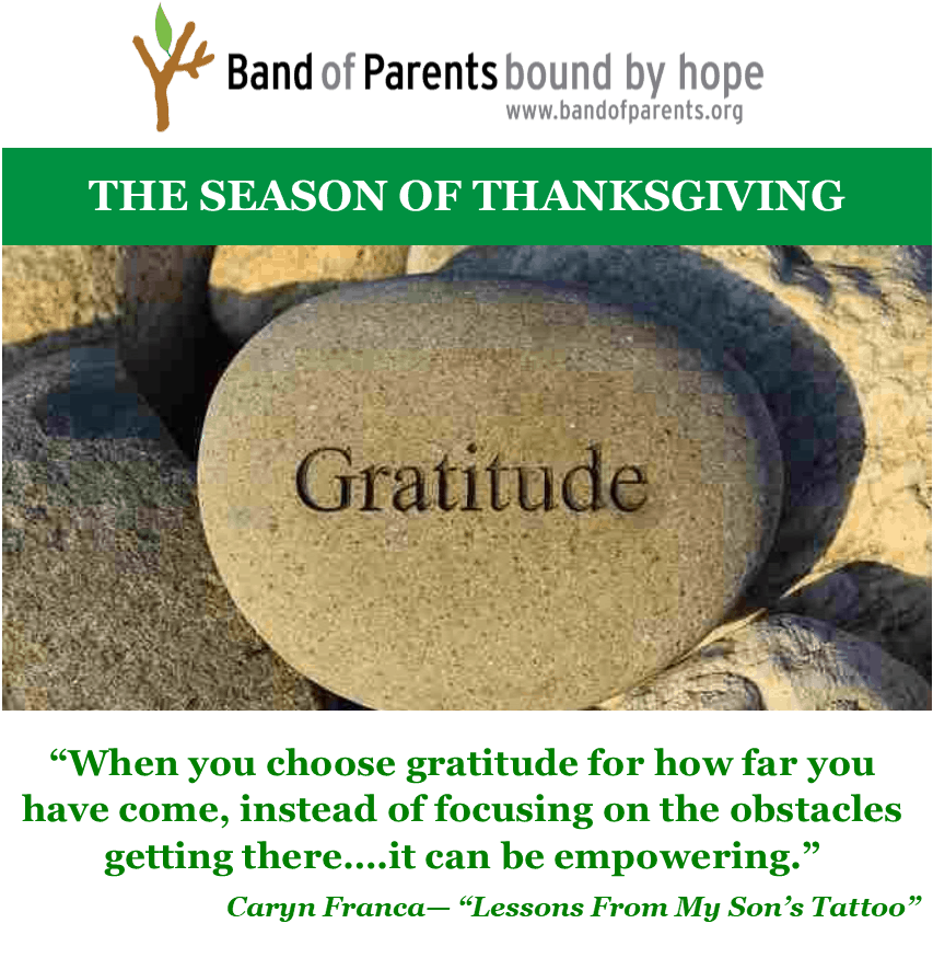 Band of Parents Bound by Hope Gratitude
